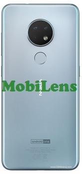 Nokia 6.2, TA-1187, TA-1198, TA-1200, TA-1201 Задня кришка срібляста