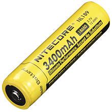 Літієвий акумулятор Li-Ion 18650 Nitecore NL189 3.7 V (3400mAh), захищений