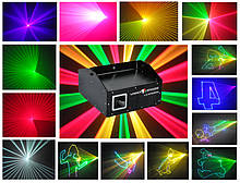 Лазерна установка, анімаційна з управлінням від комп'ютера LV350RGB (RGB, 350mW, ILDA)