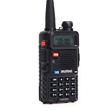 Рація Baofeng UV-5R (5W, VHF/UHF, 136-174 Мгц/400-470 MHz, до 5 км, 128 каналів, АКБ), чорна