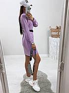 Стильное модное платье в спортивном стиле с длинным рукавом, 00803 (Лиловый), Размер 46 (L), фото 5