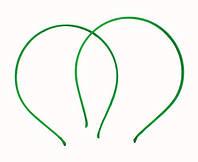 Основа для ободка металлическая в зеленой атласной ленте 5мм