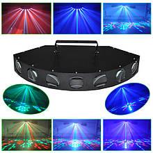 Світлова установка світлодіодна спецефектів LED1270 (RGBWY, 36Вт, 7 лінз)