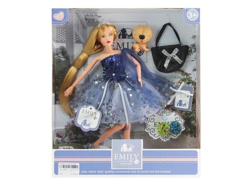 """Лялька """"Emily"""" QJ089A з аксесуарами,шарнірна, р-р ляльки - 29 см, в кор. 25,8*6,5*32,5 см"""