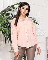 Блуза жіноча з софта, арт А012, колір пудра