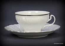 Набір чайний Thun Bernadotte (Наречена) на 6 персон 12 предметів 205мл низькі d10 см h6 см фарфор (3632021)