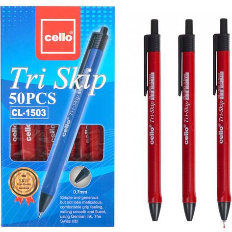 """Ручка масляна """"Tri Skip"""" Cello CL-1503 червона, фото 2"""