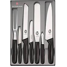 Набір кухонних ножів Victorinox (7 предметів), чорний 5.1103.7