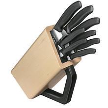 Набір кухонних ножів Victorinox Swissclassic (8 предметів) з підставкою, чорний 6.7173.8