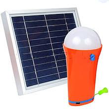 2 в 1 - Сонячна панель + Кемпінговий ліхтар (Solar - 3W, 1xLED - 3W, 4400mAh)