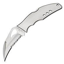 Нож складной Spyderco Byrd Crossbill полусеррейтор (длина: 194мм, лезвие: 89мм), стальной