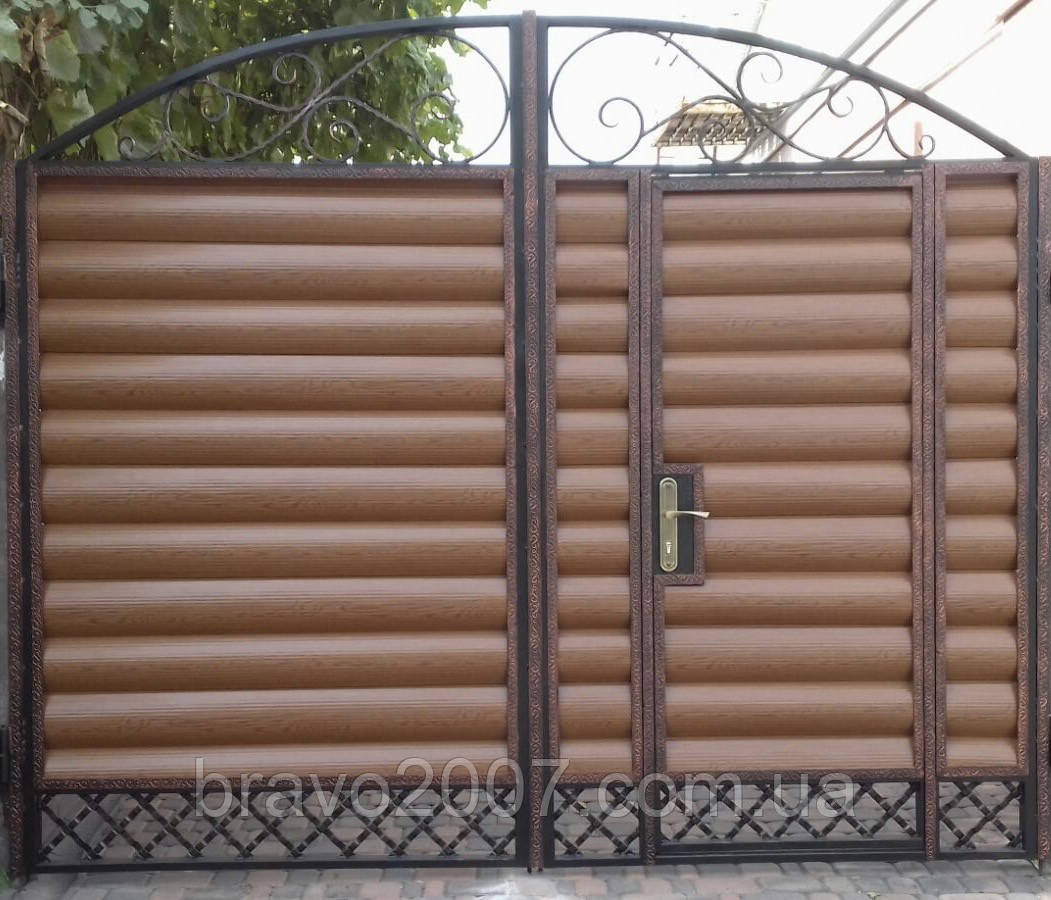 Ворота в'їзні з фільонки