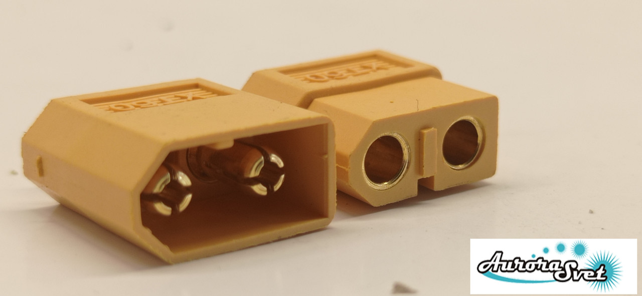 Силовой разъем для дрона/ 3D принтера / скутера / электро самоката / велосипеда 2-х контактный 60А комплект.
