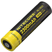 Літієвий акумулятор Li-Ion 18650 Nitecore NL1823 3.7 V (2300mAh), захищений