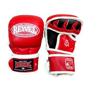Перчатки для смешанных единоборств (рукопашные) Reyvel 4 oz размер L красный