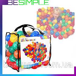 Кульки для сухого басейну Intex Fun Ballz 100 ШТ, Кульки для басейну