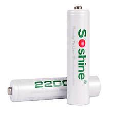 Аккумулятор никель-металлогидридный Ni-MH RTU AA (R6) Soshine 1.2V (2200mAh), 4шт. блистер
