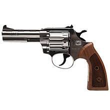 """Револьвер под патрон Флобера Alfa 441 Classic (4.0"""", 4.0мм), никель-дерево"""