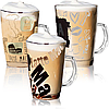 Чашка скляна 370мл Coffee set