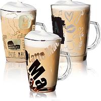 Чашка скляна 370мл Coffee set, фото 1