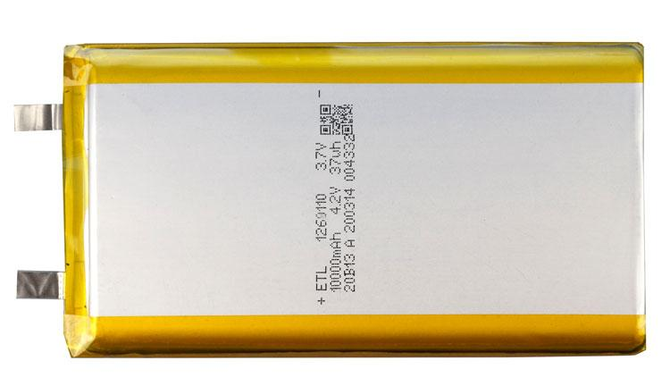 Литий-полимерный аккумулятор 10000 мАч планшета (PowerBank) размер 12х60х110 мм 3.7v батарея без контроллера