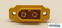 Гнездо питания для радиоуправляемых моделей игрушек 2-х контактный 30 А .Разъем аккумулятора радиотехники, фото 1