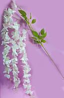 Білі звисають штучні квіти вістерії 120см,декор, фото 1