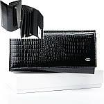 Гаманець жіночий шкіряний лаковий портмоне Sergio Torretti. (07-116), фото 5