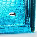 Гаманець жіночий шкіряний лаковий портмоне Sergio Torretti. (07-116), фото 4