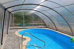 Наслаждаться бассейном можно и в непогоду, конструкция павильона укроет Вас от дождя и ветра