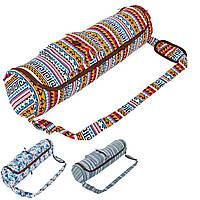 Сумка для йога коврика (чехол для фитнес коврика) DoYourYoga 8362: размер 72х17см