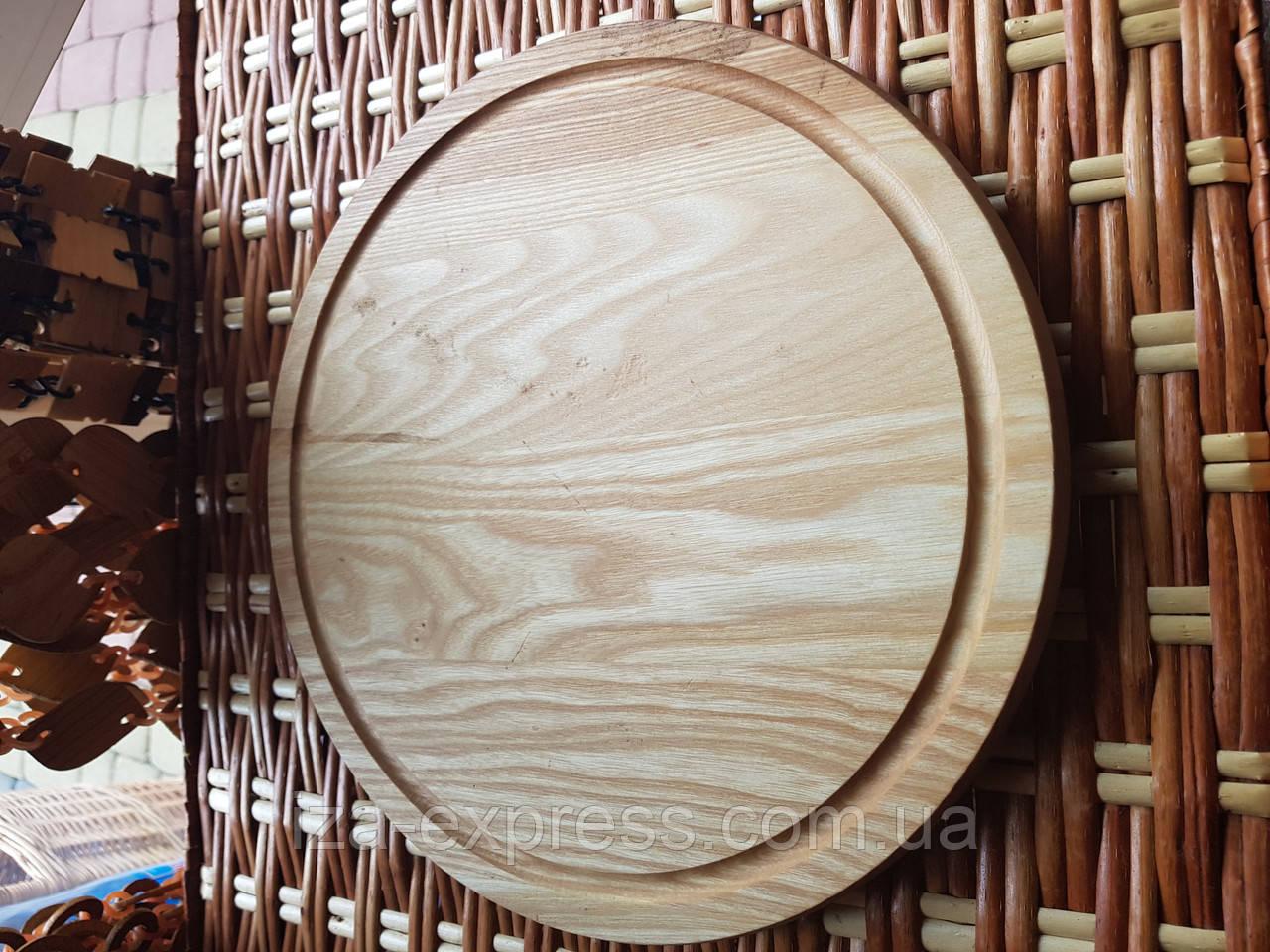 Доска разделочная деревянная круглая 29см для пиццы