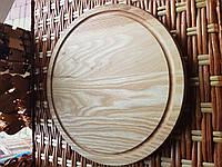 Доска разделочная деревянная круглая 29см для пиццы, фото 1