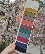 Набір різнокольорових прямокутних заколок для волосся 10 шт