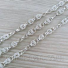 Цепочка серебряная - плетение Орех с восьмеркой, фото 3