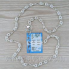 Цепочка серебряная - плетение Орех с восьмеркой, фото 2