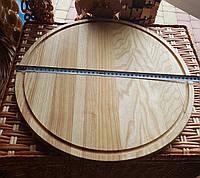 Доска разделочная деревянная круглая 44см для пиццы, фото 1