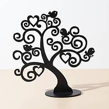 Подставка вешалка для украшений Дерево с птичками
