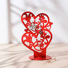 Подставка вешалка для украшений Сердце 24*16см