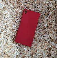 Матовый пластиковый чехол Ультратонкий для Sony Xperia Z3, Красный