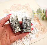 Две коллекционные оловянные рюмки с красивым барельефом, пищевое олово, Германия, SKS, влюбленные, фото 5
