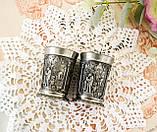 Дві колекційні олов'яні чарки з красивим барельєфом, харчове олово, Німеччина, SKS, закохані, фото 4