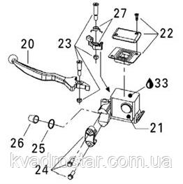 Механизм блокировки ручного тормоза BRP - 705600477