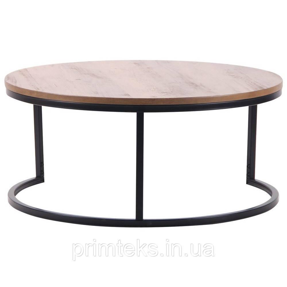 Журнальний стіл COLORADO-1 чорна, дуб шервуд