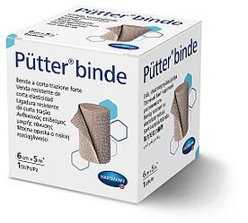 Putter binde/Пюттер биндэ - прочный бинт короткой растяжимости, 6см х 5м 1шт
