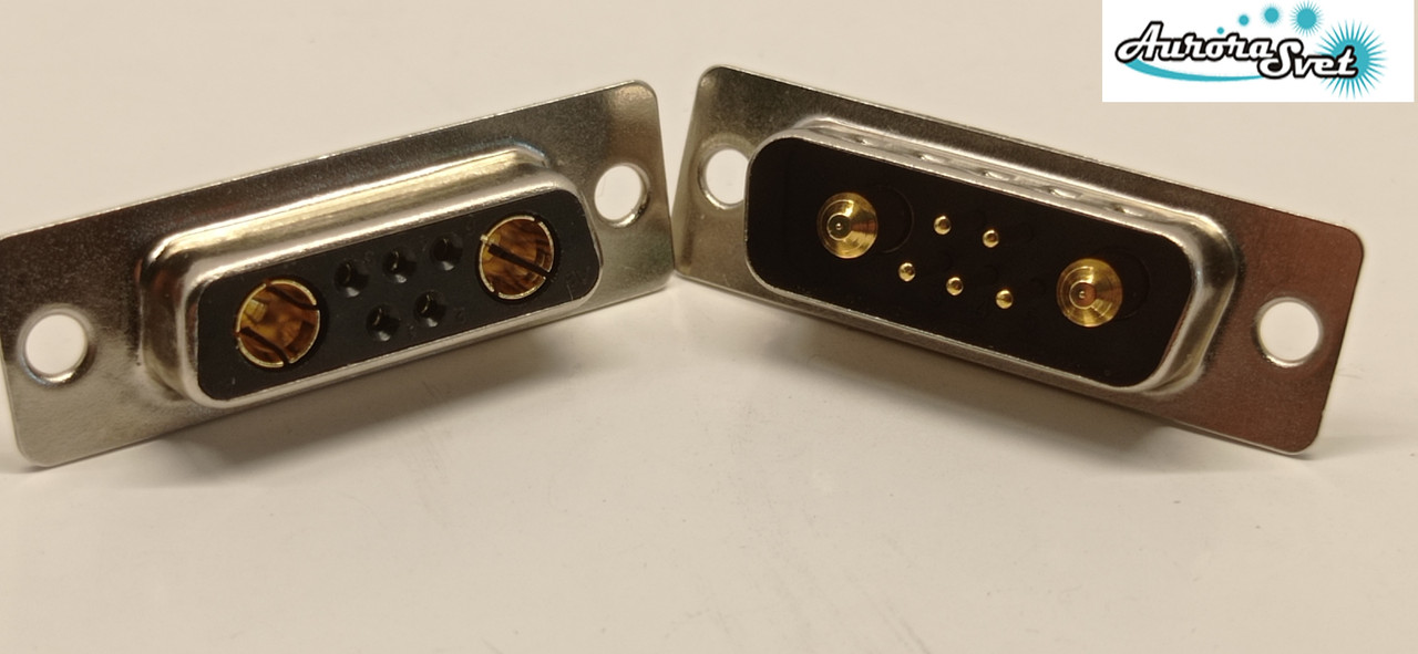 Гнездо питания для дрона/ 3D принтера / скутера / электро самоката / велосипеда  7-х контактный 30 А .комплект