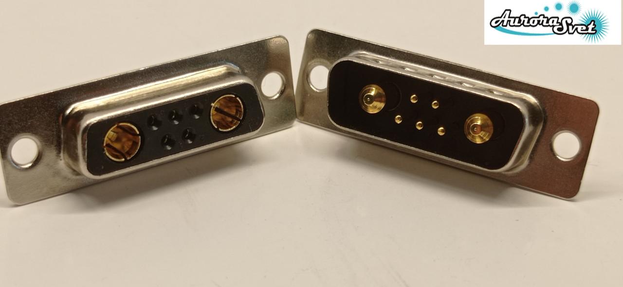 Гніздо живлення для дрона/ 3D принтера / скутера / електро самоката / велосипеда 7-х контактний 30 А .комплект