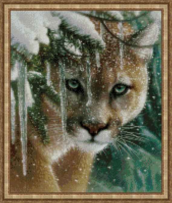 Вышивка бисером, Канва Схема животные Пума