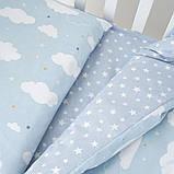 Постільний комплект дитячий Twins Unicorn на 3 предмета blue, фото 2