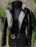 Куртка коротка з шкіри пітона